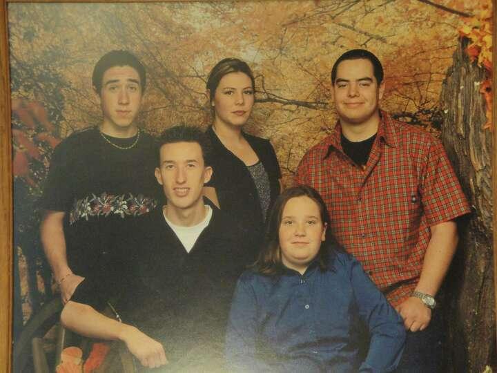 NOW: Antoinette Castillo's Texas grandchildren (back row), Nicholas Gover, Chesea Castillo and Arron
