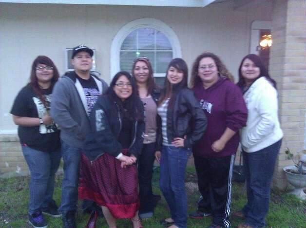 NOW: Corina Casarez (from left), Gilbert Casarez, Erica Collazo, Michelle Casarez, Kristen Casarez, Jennifer Casarez and Kristy Othon in 2012 Photo: COURTESY
