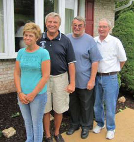 NOW: Peggy Allton, John, Tommy and Eddie Powers, Jacobus, Pa., 2012. Photo: COURTESY