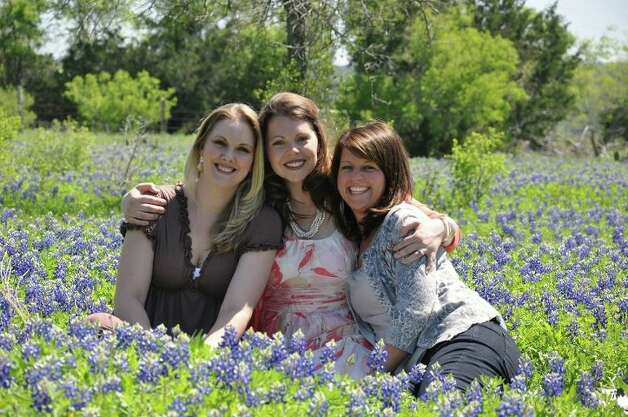 NOW: 2012 on a friend's ranch, Bulverde. Cousins Cassie Merz, Rachael Gomez and Heather Collins Photo: COURTESY