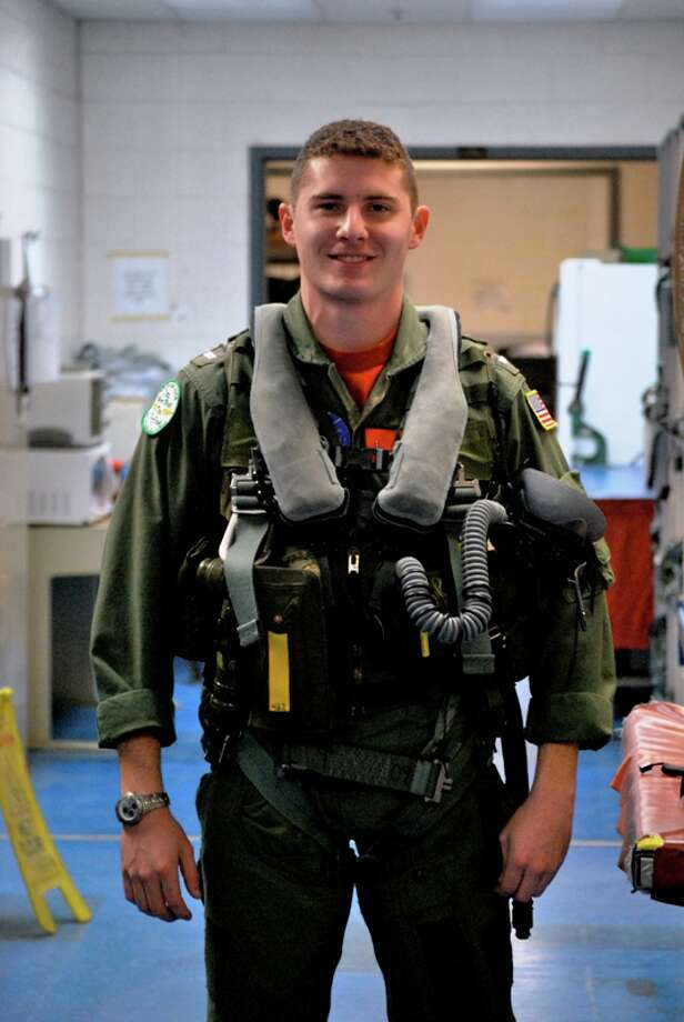 Now: Vaughn Villareal, United States Naval Academy ('07),  is a Hawkeye pilot stationed at Virginia Beach aboard the USS Eisenhower Aircraft Carrier. This photo was taken in 2010. Photo: COURTESY