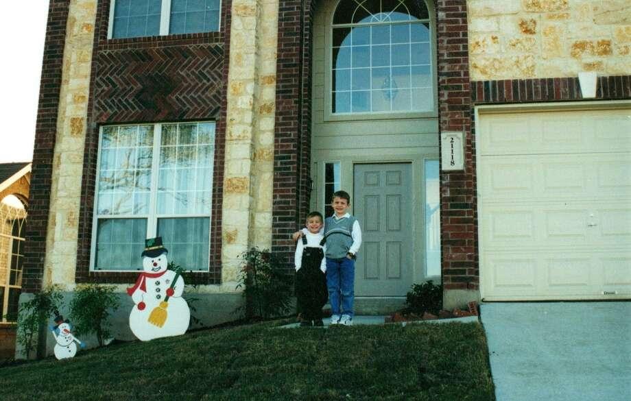 Riley (left) and Garrett Duncan in 2001.
