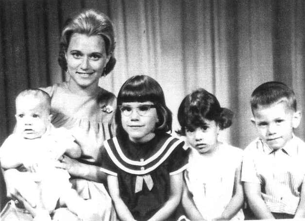 THEN: 1967, Maracaibo, Venezuela. Mary Mora, 27, with her children (left to right) David Lee, 1, Anne Michelle, 6, Irene Cecilia, 4, and Joseito, 5. Photo: COURTESY