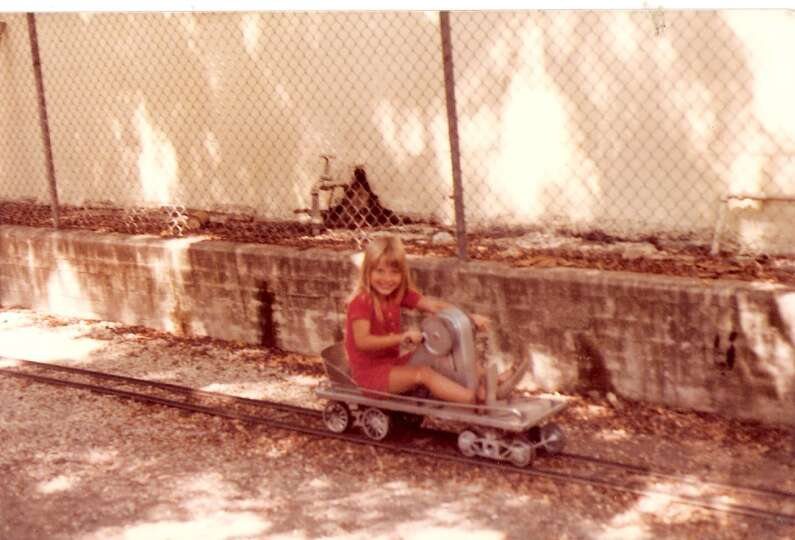 THEN: 1983, the Kiddie Park on Broadway. Becky Grimes (daughter of George Grimes), age 6.