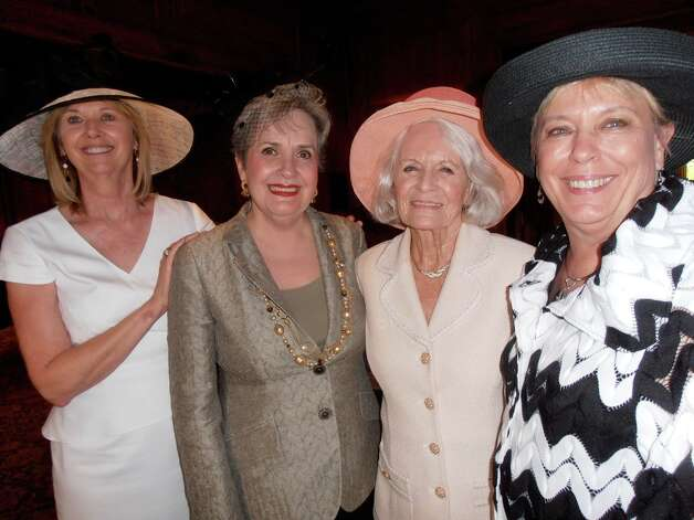 Anne Foster, from left, chair of the Hats Off to Past Presidents luncheon, visits with former Bexar County Medical Society Alliance Presidents Veronica Boldt, Rosemary Weber and Sandi Drummond. Photo: Nancy Cook-Monroe