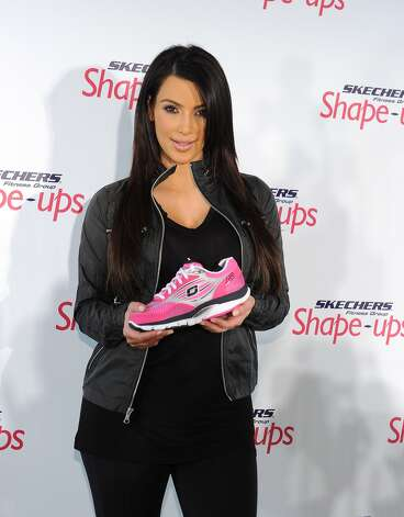 Kim Kardashian promotes Skechers' Shape-Up sneaker in 2010.