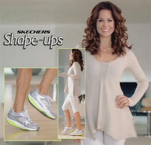 Brooke Burke promotes Skechers Shape-ups in an ad. Photo via Federal Trade Commmission.
