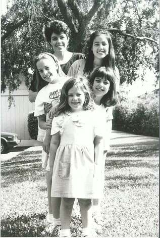 THEN: 1992, Davis, Calif. (front to back) Carolina M. Giavedoni, Alejandra M. Giavedoni, Florencia M. Giavedoni, Veronica M. Giavedoni, and their mother Laura M. Parodi. Photo: Courtesy