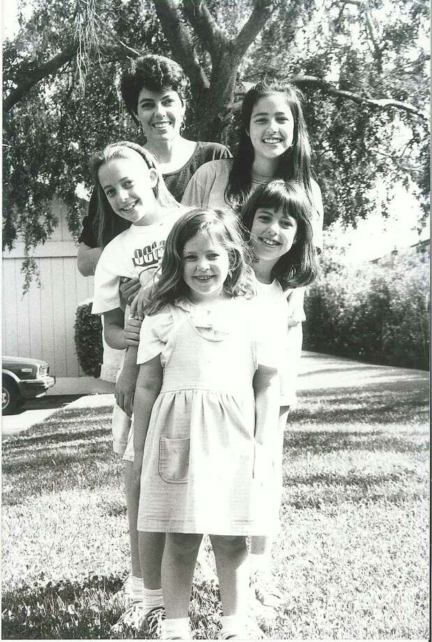 THEN: 1992, Davis, Calif. (front to back) Carolina M. Giavedoni, Alejandra M. Giavedoni, Florencia M. Giavedoni, Veronica M. Giavedoni, and their mother Laura M. Parodi. Photo: COURTESY PHOTO