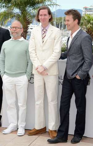 "CANNES, FRANCE - MAY 16:  (L-R) Actor Bob Balaban, director Wes Anderson and  actor Edward Norton pose at the ""Moonrise Kingdom"" photocall during the 65th Annual Cannes Film Festival at Palais des Festivals on May 16, 2012 in Cannes, France. Photo: Andrew H. Walker, Getty Images / 2012 Getty Images"