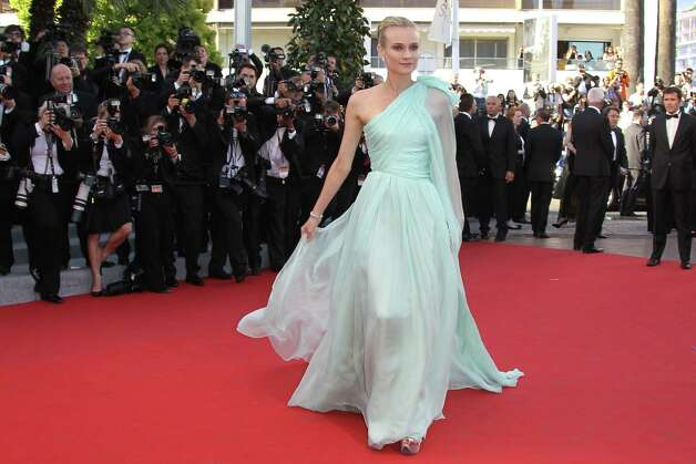 "Member of the jury, German actress Diane Kruger arrives for the screening of ""Moonrise Kingdom"" and the opening ceremony of the 65th Cannes film festival on May 16, 2012 in Cannes.    AFP PHOTO / VALERY HACHE        (Photo credit should read VALERY HACHE/AFP/GettyImages) Photo: VALERY HACHE, AFP/Getty Images / 2012 AFP"