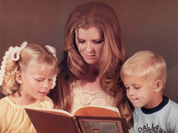 THEN: As a Christmas gift to my mom last year I re-created a picture of her reading to my brother an