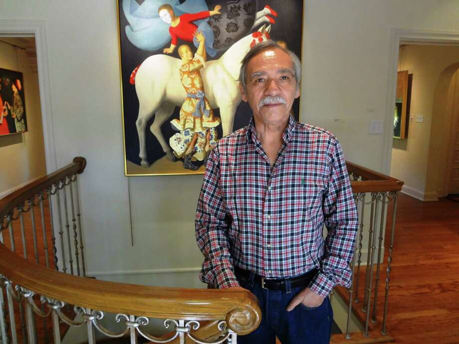 In Mexican artist Benjamín Domínguez's new works, the lines between Spanish Colonial and contemporary blur. Photo: Steve Bennett, San Antonio Express-News