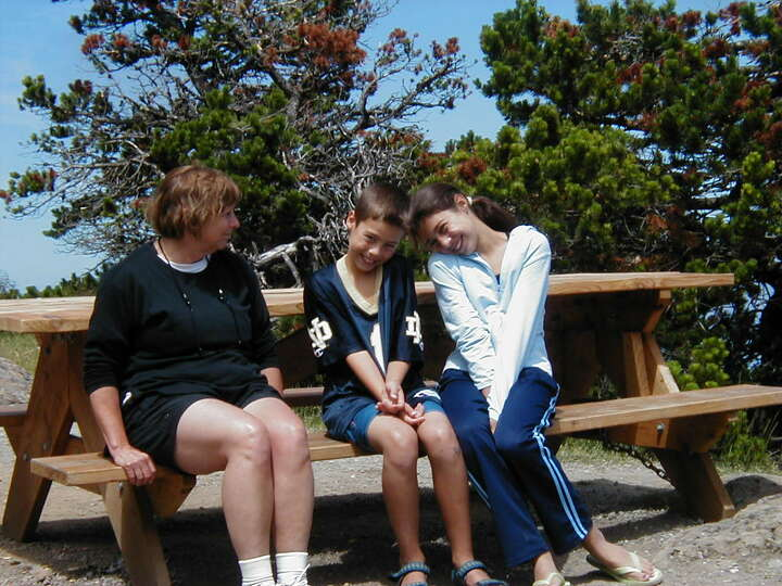THEN: 2002, Moran State Park, Orcas Island, Wash. Carolyn Wiggins with her grandchildren Amanda Elde
