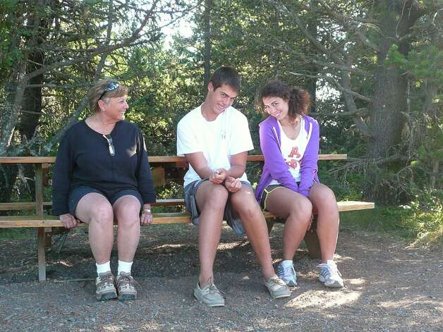 NOW: 2011, Moran State Park, Orcas Island, Wash. Carolyn Wiggins with her grandchildren Amanda Elder and Steven Elder. Photo: COURTESY