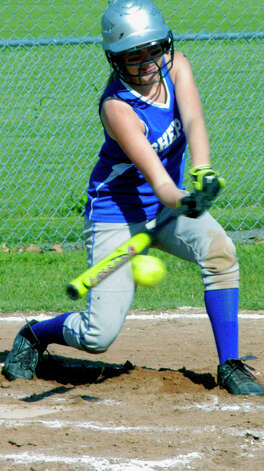 Taking their swings for Shepaug Valley High School softball, May 11, 2012 at Ayer Field in Washington Depot. Photo: Norm Cummings