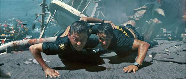 "Tadanobu Asano (left) and Taylor Kitsch star in ""Battleship."" Photo: UNIVERSAL PICTURES"