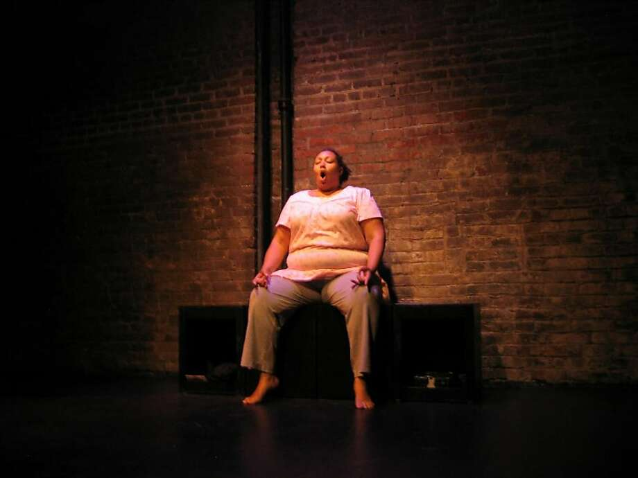 """Genevieve Jessee  in her solo show """"Girl in, but not of, the 'Hood"""" in Exit Theatre's DivaFest Photo: Amanda Ortmayer"""