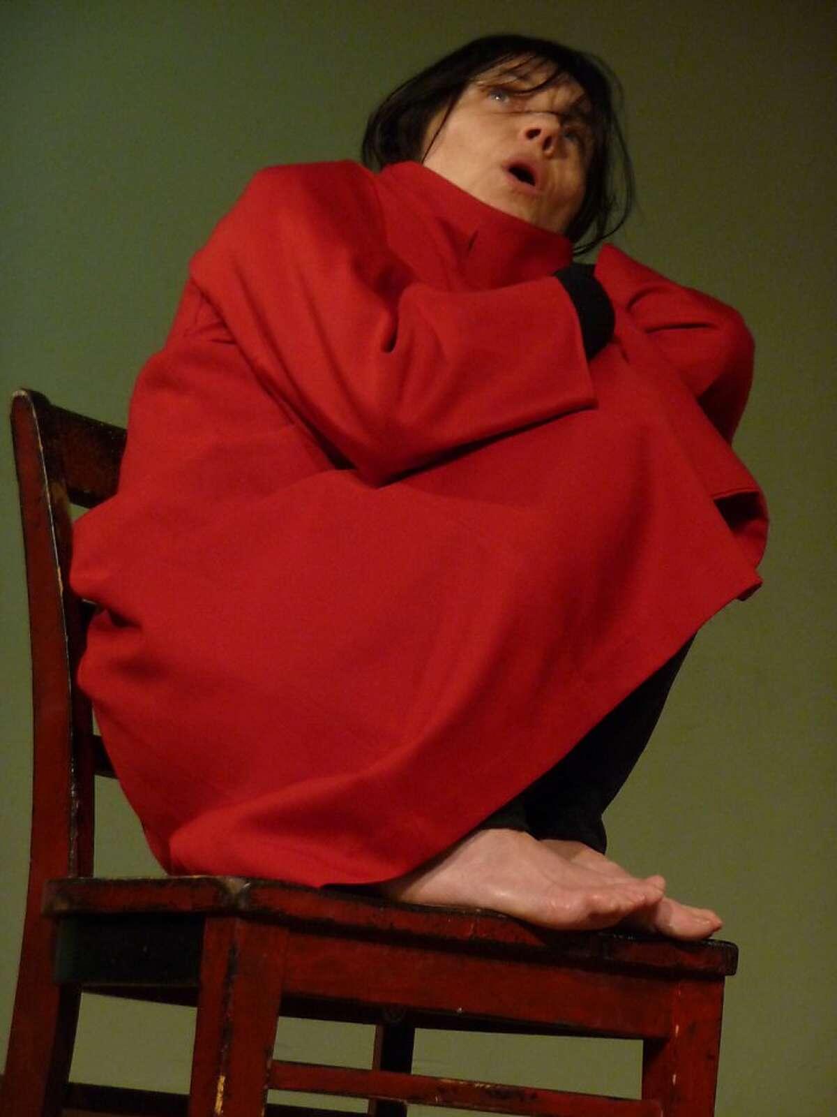 Catherine Debon in her solo show