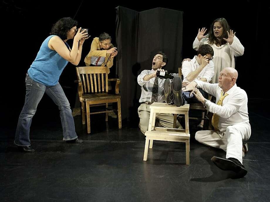 "The ensemble in ""Verbatim Verboten"" at The Garage Photo: Lynne Fried"