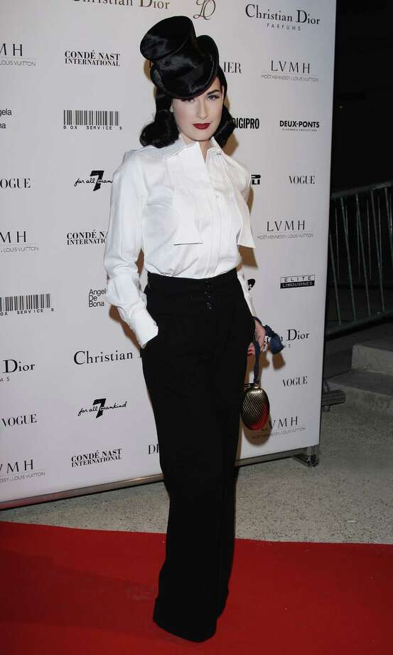 Dita at an exhibition party for fashion photographer Patrick Demarchelier on Sept. 29, 2008 in Paris. Photo: Francois Durand, Getty Images / 2008 Getty Images