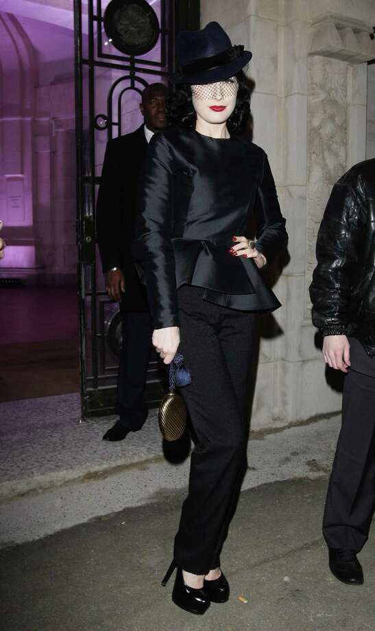 Dita arrives at the Yves Saint Laurent show on Oct. 2, 2008 in Paris. Photo: Francois Durand, Getty Images / 2008 Getty Images