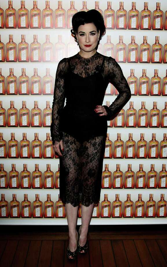 Shilling for Cointreau, Dita wears a lacy Dolce & Gabbana frock on March 4, 2010 in Milan, Italy. Photo: Vittorio Zunino Celotto, Getty Images / 2010 Getty Images