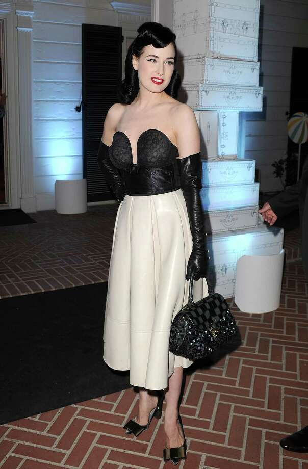 A rare misstep for Dita in Louis Vuitton at a charity event on Aug. 19, 2010 in Santa Monica, Calif. There's not much to like about that bustier, which was briefly popular on many red carpets. Photo: Jason Merritt, Getty Images / 2010 Getty Images