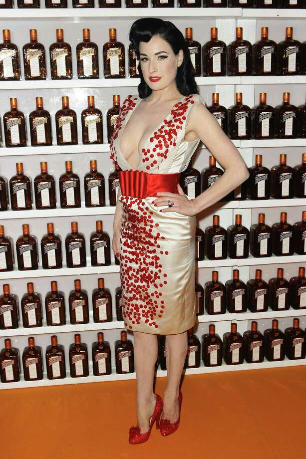 "Dita continues branching out, wearing a Jenny Packham creation while working for Cointreau at the performance of her ""Be Cointreauversial"" show on Sept. 16, 2010 in Sydney, Australia. Photo: Brendon Thorne, Getty Images / 2010 Getty Images"