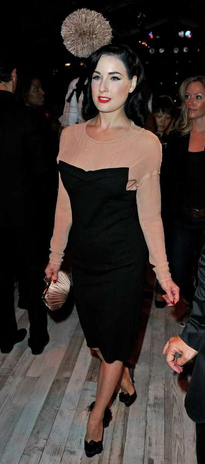 Dita attends the Sonia Rykiel show during Paris Fashion Week on Oct. 2, 2010 in Paris. Photo: Pascal Le Segretain, Getty Images / 2010 Getty Images