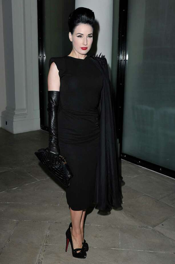 Dita attends the Jean Paul show during Paris Fashion Week on Oct. 2, 2010 in Paris. Photo: Pascal Le Segretain, Getty Images / 2010 Getty Images