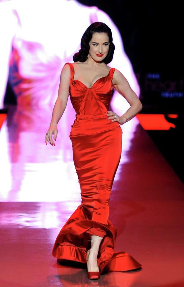 Dita struts her stuff in a form-fitting Zac Posen number at the Heart Truth fall 2011 fashion show during Mercedes-Benz Fashion Week on Feb. 9, 2011 in New York. Photo: Frazer Harrison, Getty Images / 2011 Getty Images