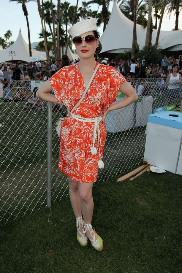 Dita goes to the Coachella Valley Music & Arts Festival nearly every year, but not without some casual style. Here she is Christian Dior and a pair of Louboutins on April 17, 2011 in Indio, Calif. Photo: Christopher Polk, Getty Images / 2011 Getty Images