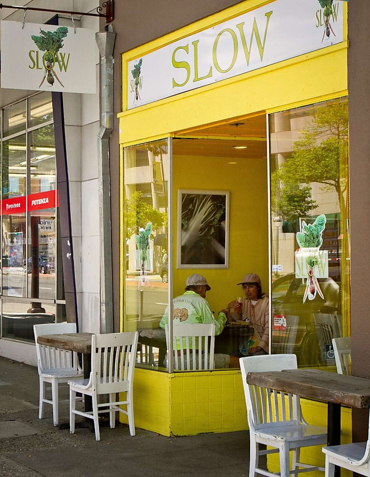 The exterior of Slow Restaurant in Berkeley, Calif., is seen on Wednesday May 9th, 2012.