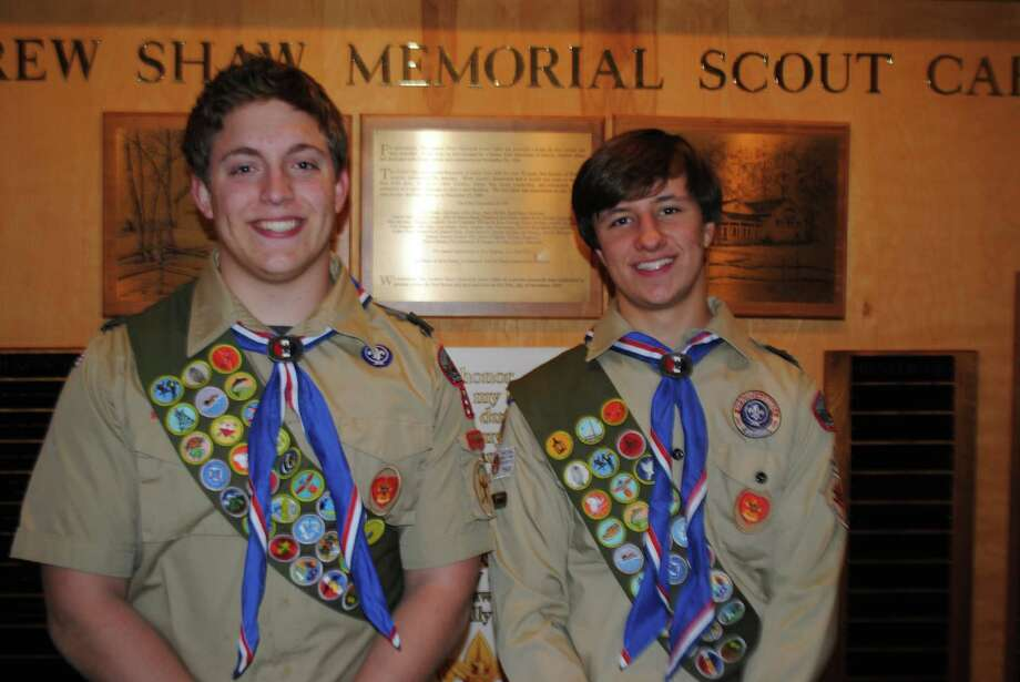 William Lochtefeld and Tommy DiMauro will be named Eagle Scouts Sunday, May 20, 2012. Darien, Conn. Photo: Contributed Photo