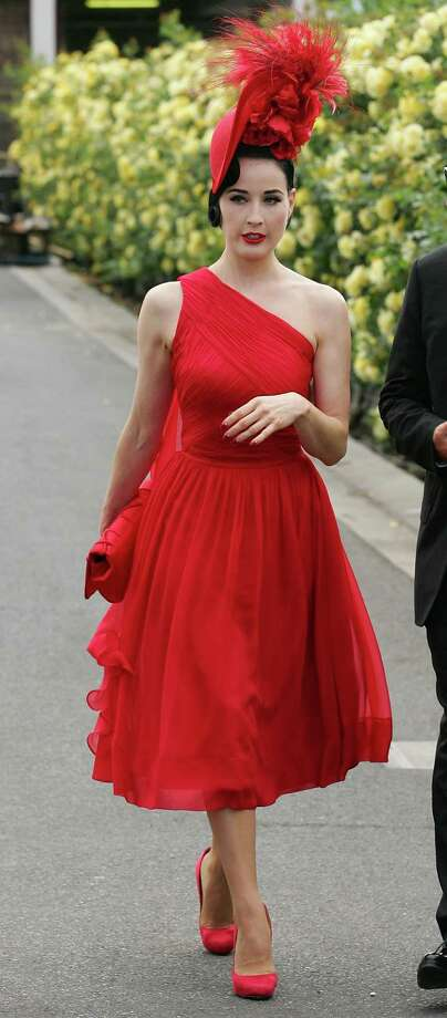 Dita wears a creation from her own collection at Victoria Derby Day on Oct. 29, 2011 in Melbourne, Australia. Photo: Scott Barbour, Getty Images / 2011 Getty Images