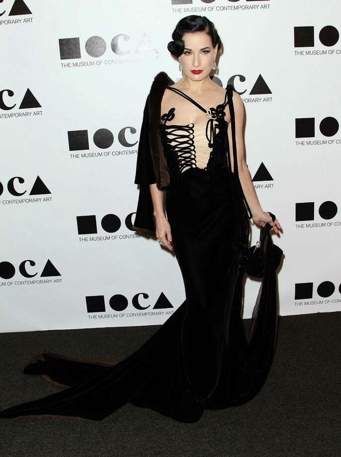 Back in the States, Dita goes back to her roots with a Jean Paul Gaultier couture creation at the Museum of Contemporary Art Gala on Nov. 12, 2011 in Los Angeles. Photo: Frederick M. Brown, Getty Images / 2011 Getty Images