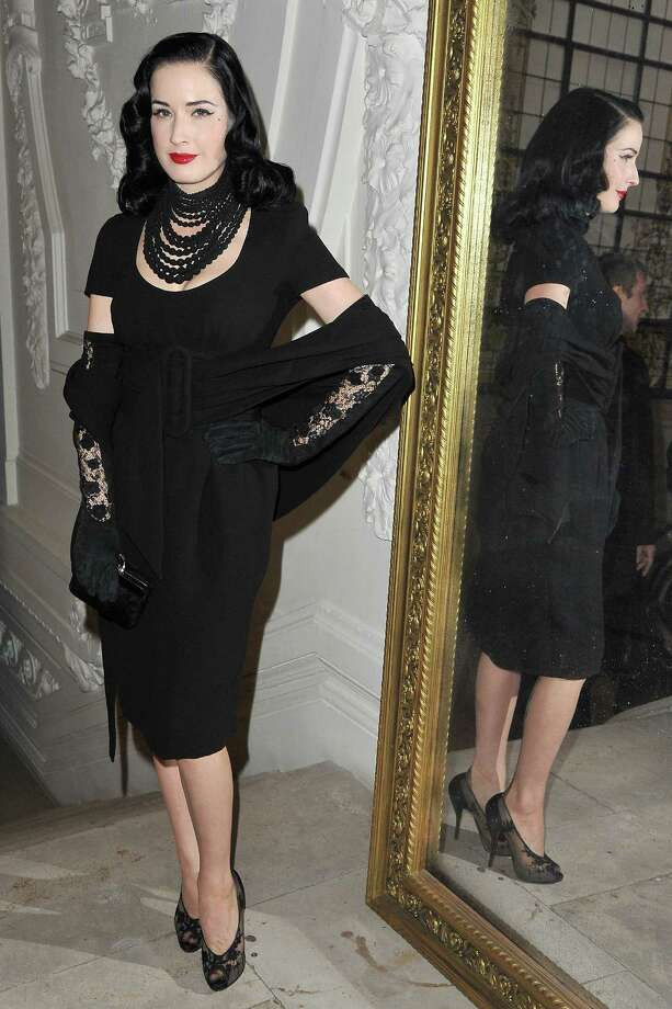 Dita attends the Jean Paul Gaultier haute couture show on Jan. 25, 2012 in Paris. Photo: Pascal Le Segretain, Getty Images / 2012 Getty Images