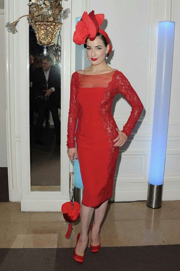 Dita wears a creation from the Alexis Mabille couture collection at the Sidaction Gala Dinner on Jan. 26, 2012 in Paris. Photo: Pascal Le Segretain, Getty Images / 2012 Getty Images