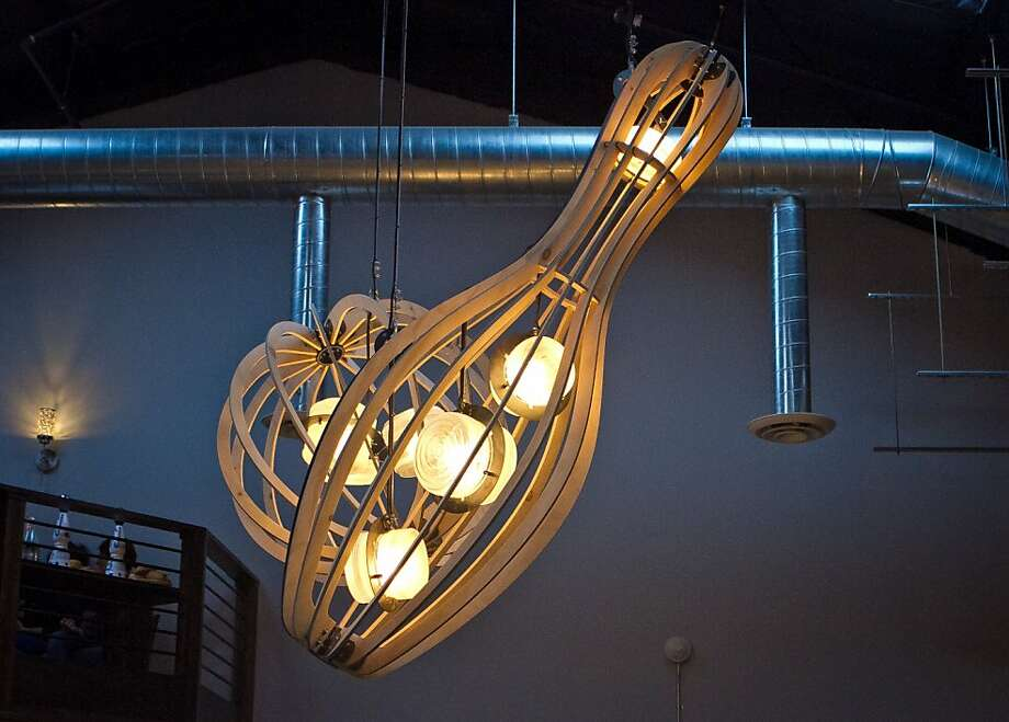 Lighting fixtures at the Mission Bowling Club in San Francisco, Calif., are seen on Friday, May 11th, 2012. Photo: John Storey