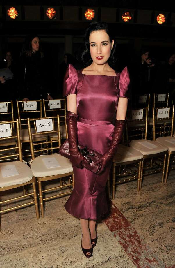 Dita attends the Zac Posen show during Mercedes-Benz Fashion Week on Feb. 12, 2012 in New York. Photo: Stephen Lovekin, Getty Images / 2012 Getty Images