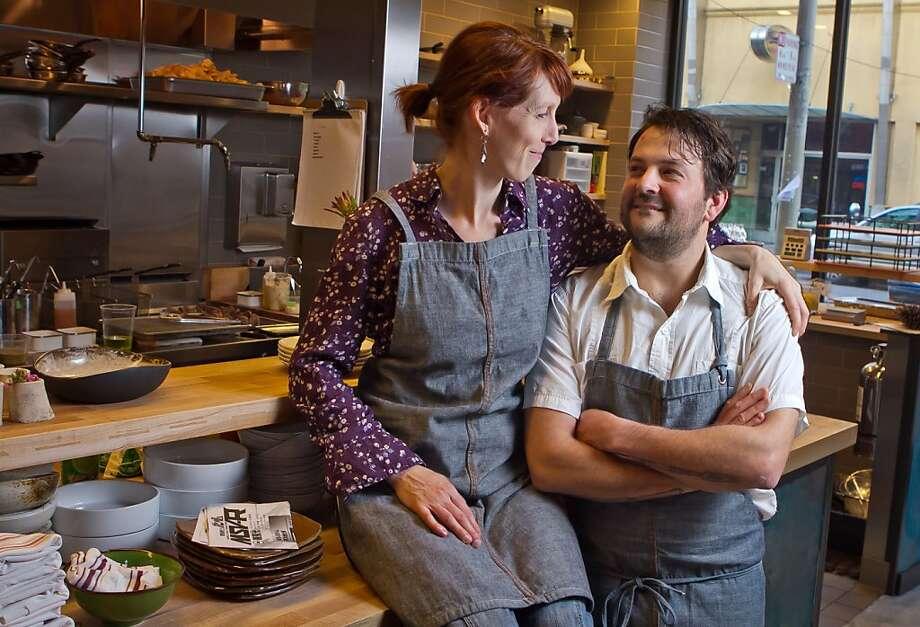 Owner/chef husband and wife team Stuart Brioza and Nicole Krasinski in the kitchen of State Bird Provisions in San Francisco, Calif., on Saturday, February 25th, 2012. Photo: John Storey