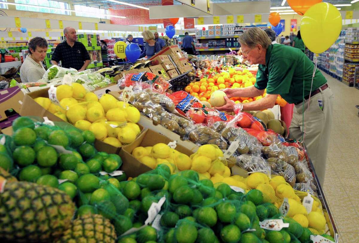 Fresh produce along with store-label brands will be featured in Aldi markets when they open in Houston.