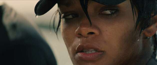 "Rihanna is shown in a scene from ""Battleship."" Photo: UNIVERSAL PICTURES"