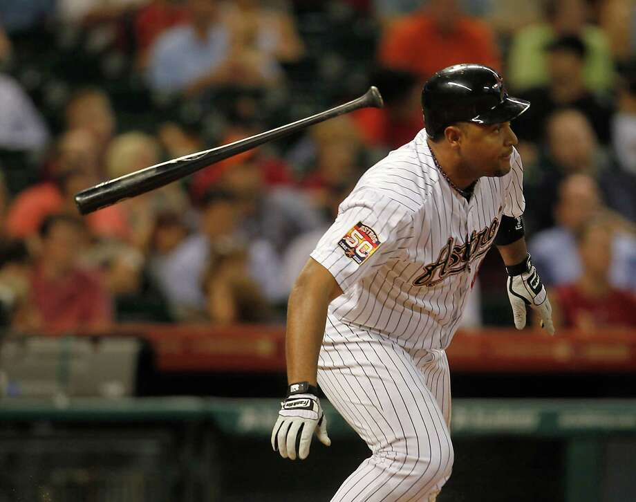 Led by Carlos Lee, the Astros tossed aside a slump in which they had failed to score more than three runs in the last nine games. Photo: Karen Warren / © 2012  Houston Chronicle