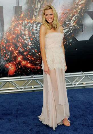 "Brooklyn Decker, a cast member in ""Battleship,"" poses at the premiere of the film, Thursday, May 10, 2012, in Los Angeles. The film is released in theaters this Friday, May 18. Photo: Chris Pizzello, Associated Press"