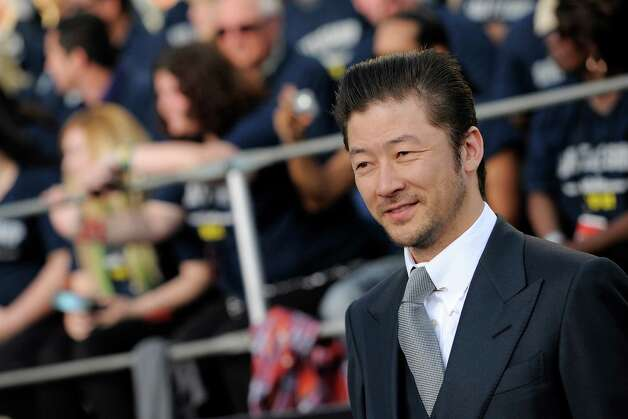 "Japanese actor Tadanobu Asano, a cast member in ""Battleship,"" poses at the premiere of the film, Thursday, May 10, 2012, in Los Angeles. The film is released in theaters this Friday, May 18. Photo: Chris Pizzello, Associated Press"
