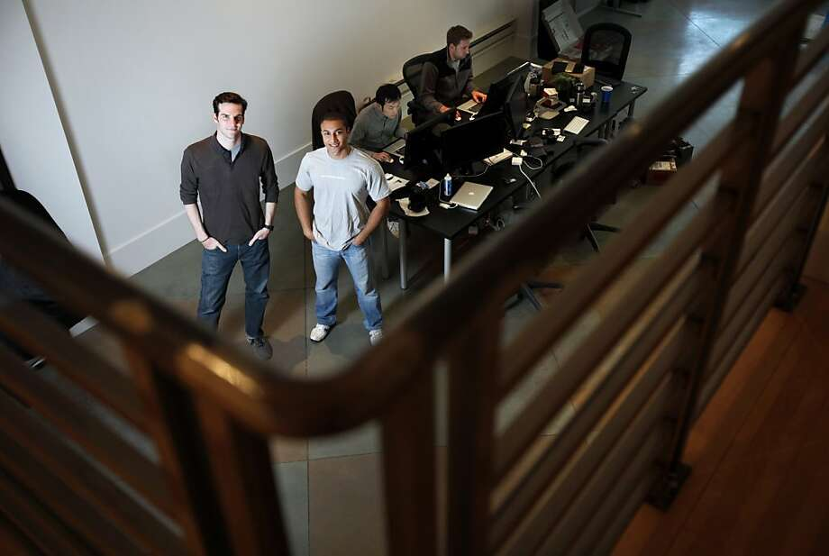 James Beshara, left, and Khaled Hussein co-founded Crowdtilt, a crowd-funding website.  They are photographed at their offices in San Francisco, Calif., Friday, May 4, 2012. Photo: Sarah Rice, Special To The Chronicle