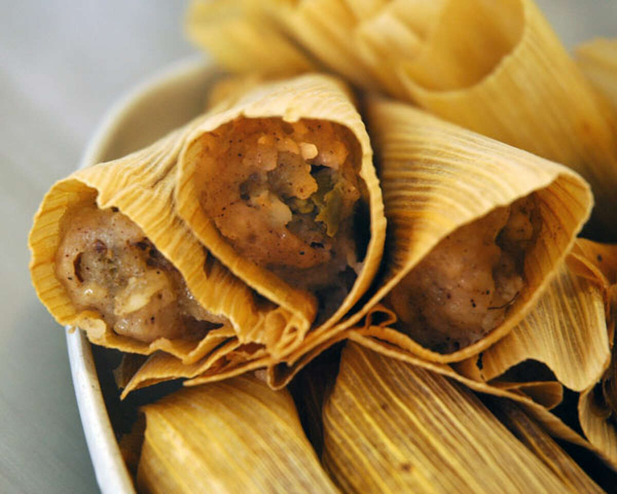 Atomic Tamales at Delicious Tamales: The spicy tamales are made with pork and ghost peppers, according to the restaurant's website. Delicious Tamales wrote on its website that it encourages those who like spicy food to give them a try, but to be careful as they are