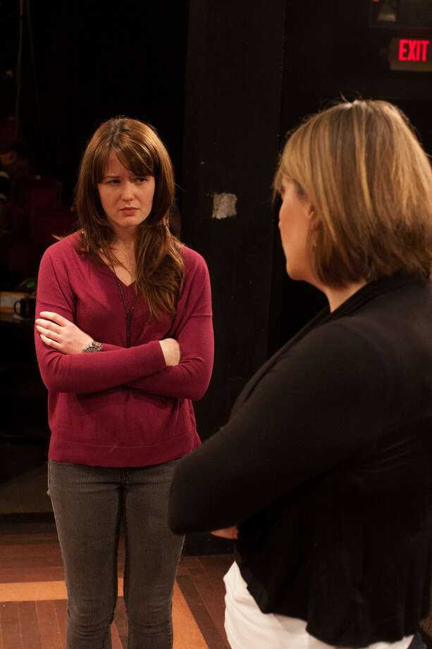 """Rebekah Stevens, left, rehearses her role in """"Next To Normal."""" Photo: R. Clayton McKee / © R. Clayton McKee"""